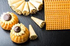 Verschillende Zoete Cakes Stock Fotografie