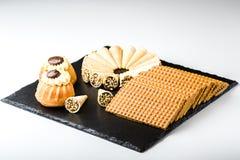 Verschillende Zoete Cakes Royalty-vrije Stock Afbeelding