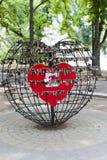 Verschlüsse der Liebe in Chisinau stockfoto