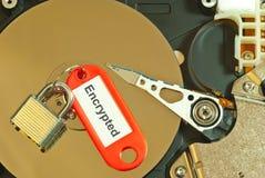 Verschlüsselte Festplatte lizenzfreie stockbilder