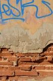 Verschlechterte Backsteinmauer Lizenzfreie Stockfotos