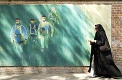 Verschleierte Frau in Teheran der Iran Stockbild
