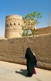 Verschleierte Frau in yazd Straße im Iran Lizenzfreies Stockbild