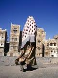 Verschleierte moslemische Frau, Yemen Stockbilder