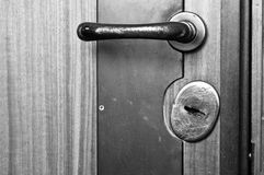 Verschließbare Tür stockfotografie