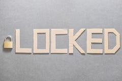 verschlossen lizenzfreie stockfotos