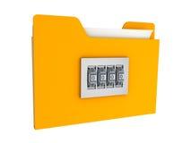 Verschlossene Faltblatt- und Zahl-lock.info rmation Sicherheit vektor abbildung