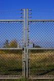 Verschlossene Gatter stockbild