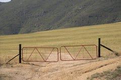 Verschlossene Gatter Stockfoto