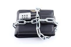 Verschlossene Geldbörse Lizenzfreie Stockfotos