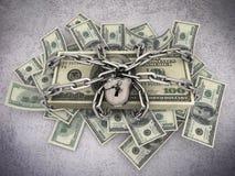 Verschlossene Rechnungen Stockfotos