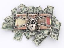 Verschlossene Rechnungen Stockbild
