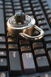 Verschlossene Tastatur Stockbilder