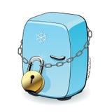 Verschlossener Kühlschrank Lizenzfreie Stockfotos