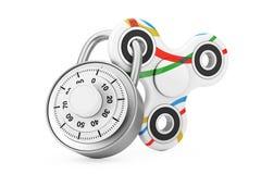 Verschlossener Unruhe-Finger-Spinner-Antistress Spielzeug Wiedergabe 3d Lizenzfreies Stockbild