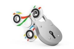 Verschlossener Unruhe-Finger-Spinner-Antistress Spielzeug Wiedergabe 3d Stockfoto