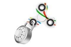 Verschlossener Unruhe-Finger-Spinner-Antistress Spielzeug Wiedergabe 3d Stockfotografie