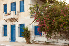 Verschlossenes altes Haus in Griechenland Lizenzfreies Stockbild
