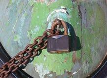 Verschlossenes Bootsdetail Stockfotografie