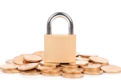 Verschlossenes Geld Stockfotos