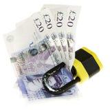 Verschlossenes Geld. Lizenzfreie Stockfotografie