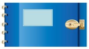 Verschlossenes Tagebuch. Abbildung des VektorEPS10. Lizenzfreie Stockfotos