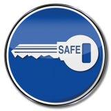Verschluss, Schlüssel, Safe und Sicherheit lizenzfreie abbildung