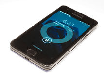 Verschlussschirm Samsungs-Galaxie-S2 Stockbild