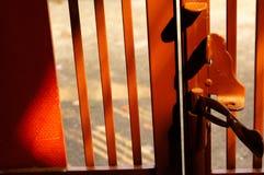 Verschlussstift der Schiebetürfront des Hauses Lizenzfreies Stockbild