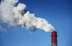 Verschmutzung der blauen Himmel Lizenzfreies Stockbild