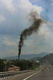 Verschmutzung in der Luft stockfoto