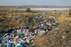 Verschmutzung der Natur Stockbild