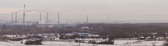 Verschmutzung der Umwelt, Panorama Lizenzfreie Stockfotografie