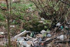Verschmutzung der Umwelt St Petersburg, Russland Lizenzfreies Stockbild