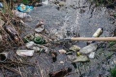 Verschmutzung der Umwelt St Petersburg, Russland Lizenzfreies Stockfoto