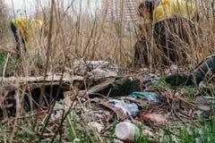 Verschmutzung der Umwelt St Petersburg, Russland Lizenzfreie Stockfotos