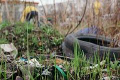 Verschmutzung der Umwelt St Petersburg, Russland Stockfoto