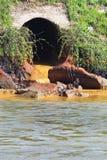 Verschmutzung des Wassers Stockbild