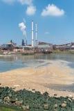 Verschmutzung im Meer stockfotos