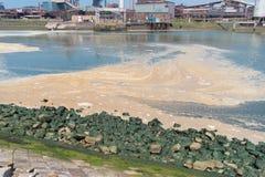 Verschmutzung im Meer lizenzfreies stockfoto