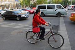 Verschmutzung Pekings China in der Stadt lizenzfreie stockfotos