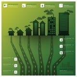 Verschmutzungs-Baum und Wurzel Infographic-Design-Schablone Lizenzfreie Stockfotografie