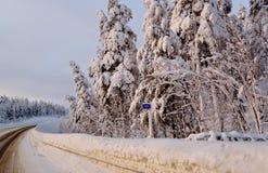Verschneiter Winter von 2018 Lizenzfreie Stockfotografie