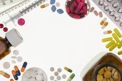 Verschreibungspflichtige Medikamente - ärztliche Behandlung Stockfotos