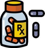Verschreibungspflichtige Medikamente Stockbild