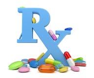 Verschreibungspflichtige Medikamente Stockfoto