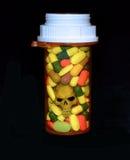 Verschreibungspflichtige Medikamente und Tod Stockbild