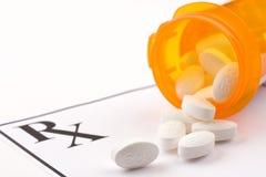 Verschreibungspflichtiges Medikament Stockfotografie