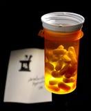 Verschreibungspflichtiges Medikament Lizenzfreie Stockfotos