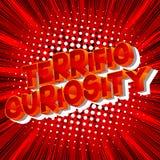 Verschrikkelijk Nieuwsgierigheid - de Grappige woorden van de boekstijl vector illustratie